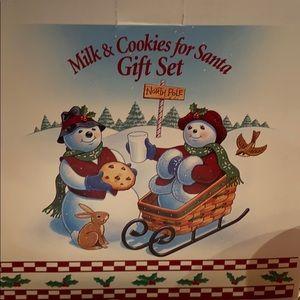 Longaberger Christmas milk and cookies for Santa